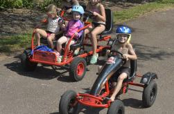 Peddle Go-Karts are a fun way to explore the park